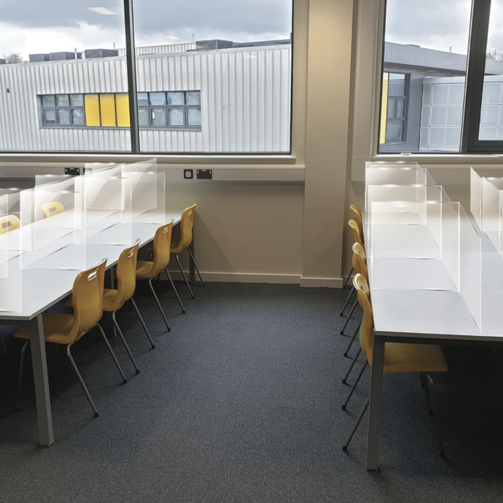 BRAC Projects perspex Covid 19 protection screen